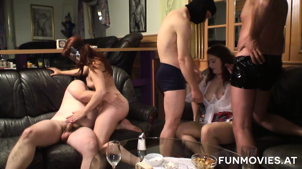 Sexy Leona Queen and Lisa enjoy a swingers orgy