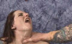 Brunette Maci May Getting Hair Pulled And Face Fucked Raw