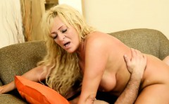 Chubby granny banged and covered in jizz