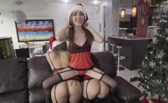 Sexy ladies gets naughty around Santa