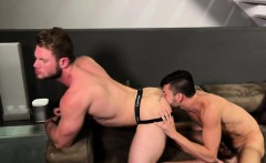 Big dick boy rimming with cumshot