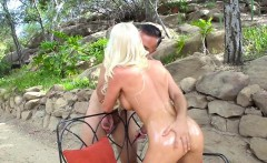 Blonde MILF gets Oiled Up for Anal