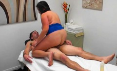 Chesty Babe Jhenevieve Straddles Her Client