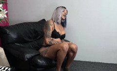 Ebony tgirl with big ass loves masturbation