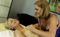 Sarah gets a deep tissue massage from Kissy