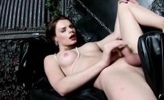 Busty russian tgirl wanking in solo session