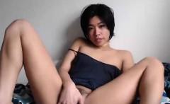 Asian Teen Solo Slippery Oil Pussy Massage Video