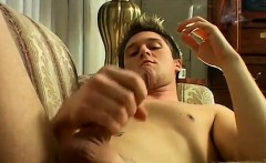 Man with two penis free gay porn London Solo Smoke & Stroke!
