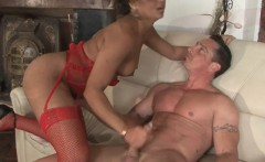 Brunette bomb has an intense fuck session