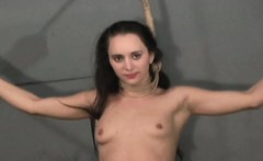 Dissolute bondage time with teat and pussy play