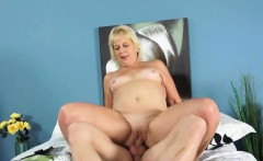 Blonde GILF gets a young stud