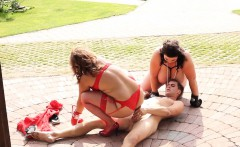 Plumper lingerie bbws pussyfucking in trio