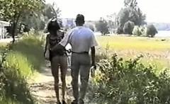 Busty brunette voyeur masturbation