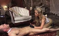 Blonde Strapon Fucks Slave