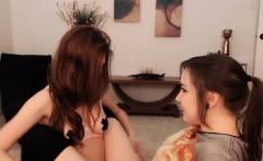 Upright nipples of hot lesbian