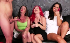 Bossy hotties give handjob