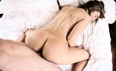 Dude hammered and creampied girlfriend and she plays with it