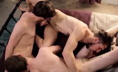 Hardcore bareback threesome between three horny friends