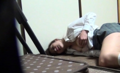 Japanese teen rubs snatch