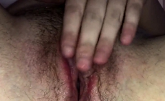 Kinky Chick Fingers Her Hairy Pussy