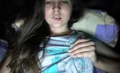 Busty teen Tegan shows off her natural big boobs