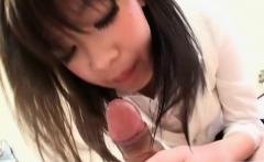 Asian schoolgirl blows a long dong