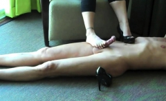 Busty MILF have kinky foot fetish sex