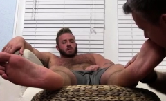 Gay white dude suck dick and lick foot movie Aaron Bruiser L