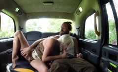 Female Fake Taxi Young dumb and full of cum