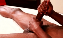 Ebony Stud Plowed After Erotic Massage