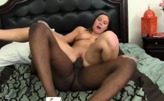 Black shaft stretches a delicious pussy