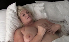 Blonde Granny Lacey Star Rides Dick