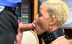 Ebony shoplyfter receives a cock
