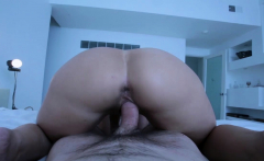 Horny busty MILF stepmom cant to be alone in her bed