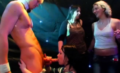 Wild cheeks in club fucked and sucked strip dancers knob