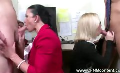 CFNM office sluts suck for punishment