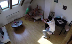 HUNT4K. Fuck with blonde makes hunter's dick ejaculate on...