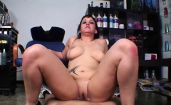 Jenny takes care of a fat shaft