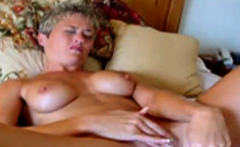 Mature Blonde Dildoing Her Wet Snatch