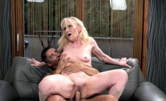 Granny Rides a Big Hard Cock and She Loves It
