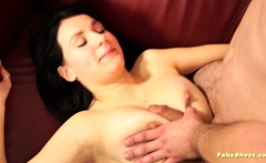 Busty beauty enjoy big cock in her pussy