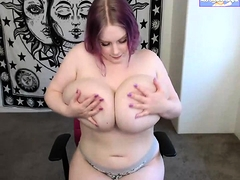 Redhead Bitch Plays With Her Nipples
