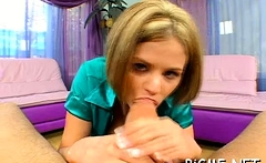 Delectable honey Nikki Grind chose the biggest dinky