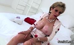 Unfaithful english mature lady sonia showcases her huge hoot