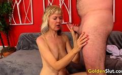 Hot British GILF Jamie Foster Puts Grandpas Cock to the Test