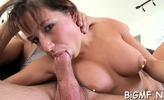 Fang in sexy latina floosy Charity Bangs's putz