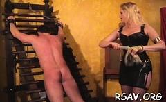 Mischievous bimbo is masturbating for her male
