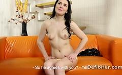 Naked virgin Sasha Mamaeva speaks about sexual experience