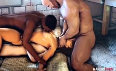 Big tits Lara Croft gets gangbanged deeply by huge dicks