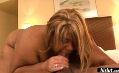 She bends over and gets fucked like a champ